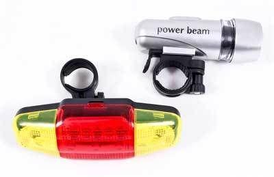Набор фонариков для велосипеда ECOS VEL-16 (задний фонарик LED-7, 7 режимов фонарик на руль LED-5, 3 режима) 000614