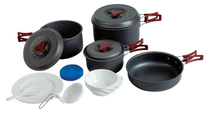 Tramp набор посуды TRC-026 [анодированный алюминий]