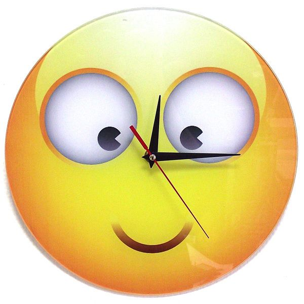 Часы Смайл 7 стеклянные