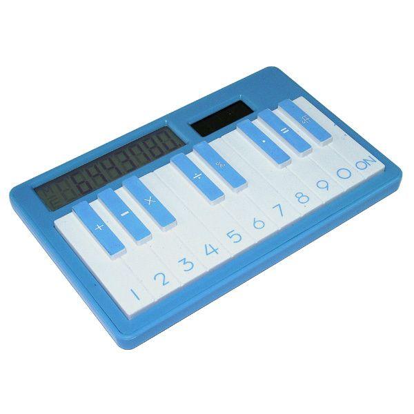 Калькулятор Пианино синий