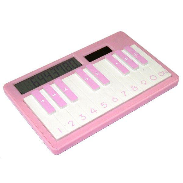 Калькулятор Пианино розовый