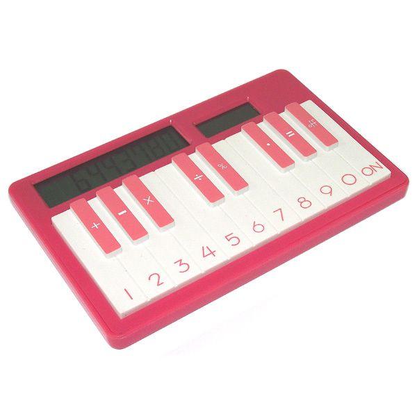 Калькулятор Пианино светло-красный