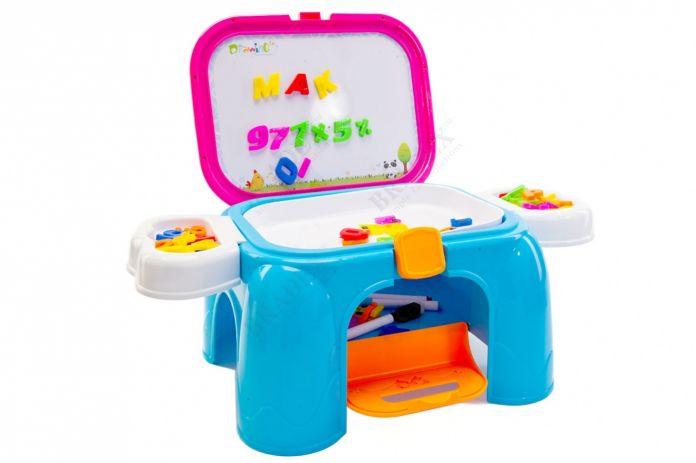 Обучающий столик-табурет «СКОРО В ШКОЛУ» 3 в 1 (Educating table 3 in 1 (stool))