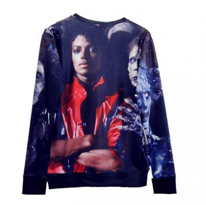 Raisevern 2016 мода 3D Пуловеры футболка Майкл Джексон/зомби Кофты с длинным рукавом веселые 3D толстовки оптом