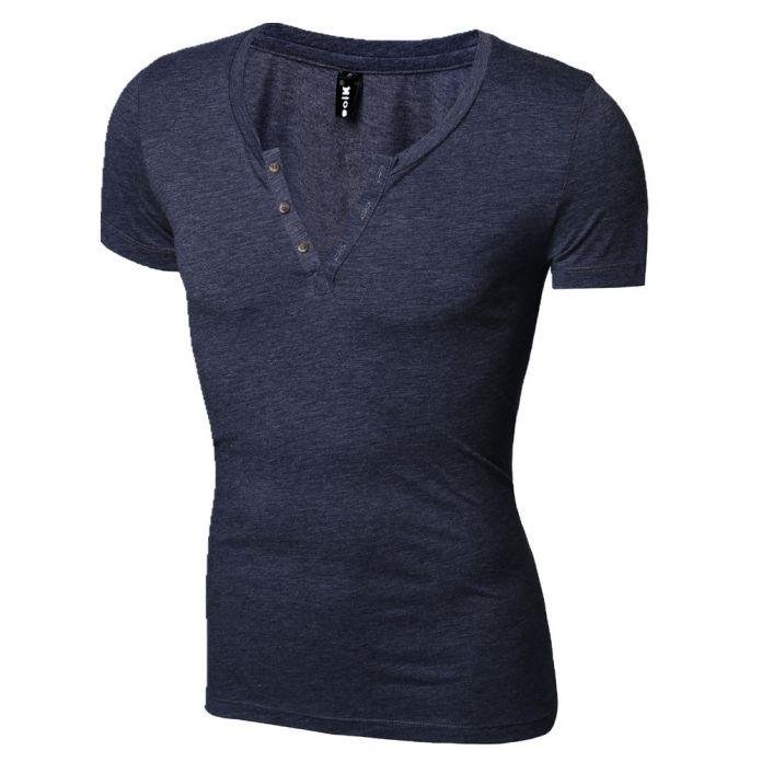 Мужчины футболки с коротким рукавом мандарин воротник лето новое поступление хлопок тонкий мужчины возглавляет тройники рубашки сплошной цвет футболки мужчины горячие T090
