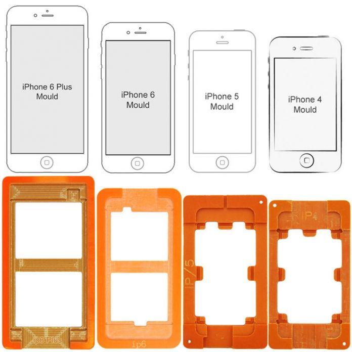 1 компл. 4 в 1 пластиковые мобильный телефон отреставрировать реконструкции жк-стекло удаление сепаратор ремкомплект формы формы для iphone4, 5,6, 6 плюс