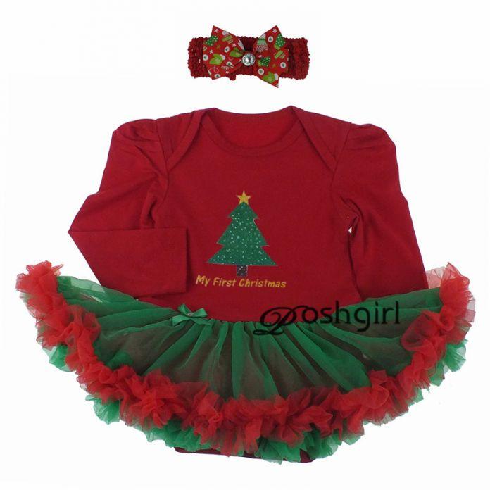 Новый Минни Санта-Клауса, Девушка, Платье Новорожденных Рождественский Подарок для Девочки Партия Наряд Одежда Bebe Младенческой Ползунки Туту Платья