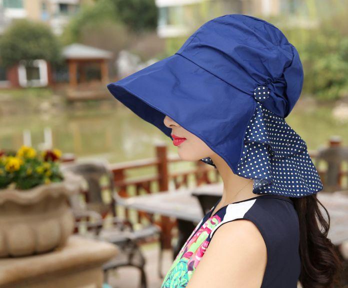 женские головные уборы шляпы летние анти-уф пряжки шапка сплошные цвета складной шляпа и легко носить с собой на открытом воздухе козырьки крышка вс шляпы летние женщин 4 цветов