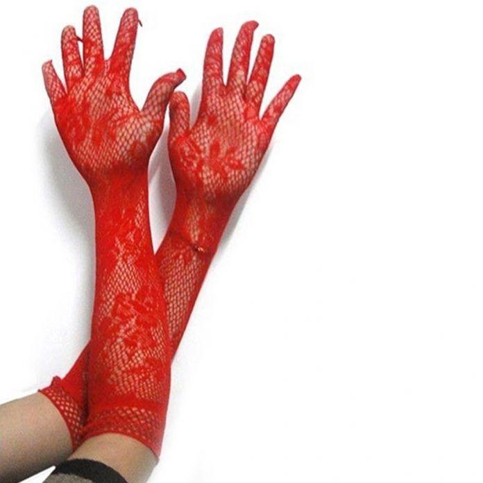 Сексуальные длинные перчатки женщины черный красный белый цветочные кружева перчатки рукавицы кружева перчатки УФ блокирующие Summer party Солнцезащитные Варежки