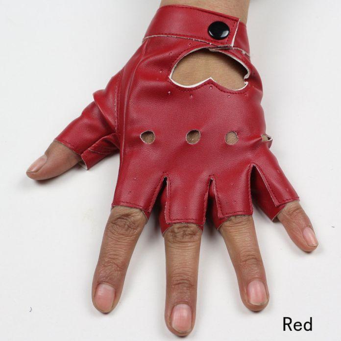 Женская мода Кожаные Перчатки Без Пальцев Звезда Полые Перчатки Партия Показать Дышащий Половины Пальцев Рукавицы для Женщин SXJ80