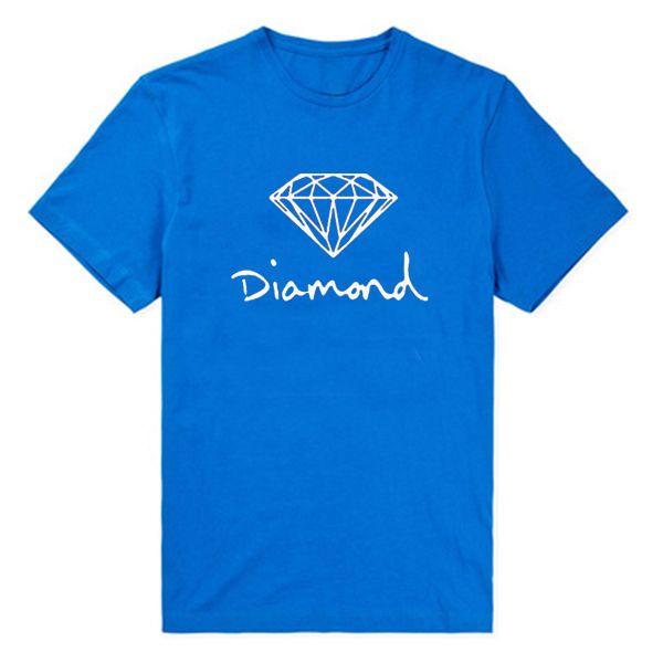 Бесплатная доставка мужские футболки мода 2016 алмазный supply co мужчины 100% хлопок O-образным Вырезом С Коротким Рукавом Человек высокое качество tee рубашки