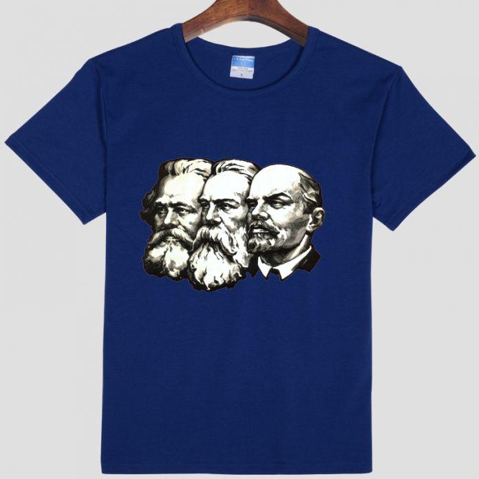 Советский союз великой коммунистической Ленина, маркса, энгельс DIY мужская с коротким рукавом Футболки 004