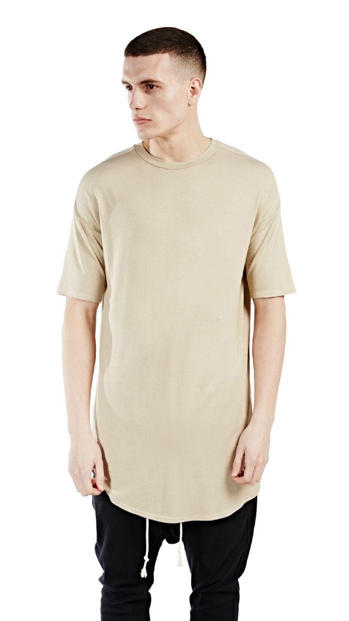 Мужские футболки мода 2016 Лучшие качества лето расширенный т рубашка homme Kanye West футболка хип-хоп сплошной цвет футболки уличная