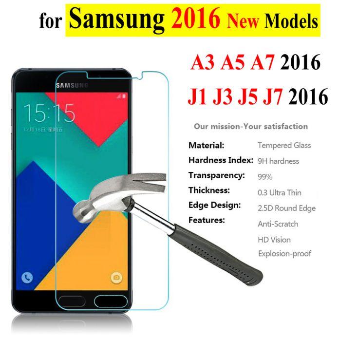 Закаленное cтекло для (Samsung Galaxy A3 A5 A7 A310F A510F A710F A7100 J120F J1 J3 J5 J7)