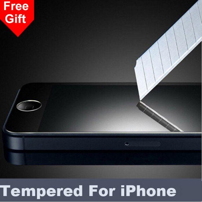 Для iPhone 5S 5 SE 5C 2.5D 0.26 мм 9 H Премиум Закаленное Стекло для iphone 4S 4 Экрана Анти Shatter Пленка Протектора Для iphone 6 S 6