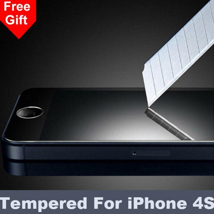 4S 2.5D 0.26 мм 9 H Премиум Закаленное Стекло Для iPhone 4S 4 4 Г С Розничной Коробке Экрана Анти Shatter Пленка Протектора Для iphone4S