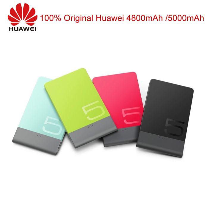 Оригинал Huawei Power Bank 4800 мАч 5000 мАч Портативное Зарядное Устройство Внешняя Батарея Сверхтонкий Powerbank Для iPhone Samsung Note Xiaomi