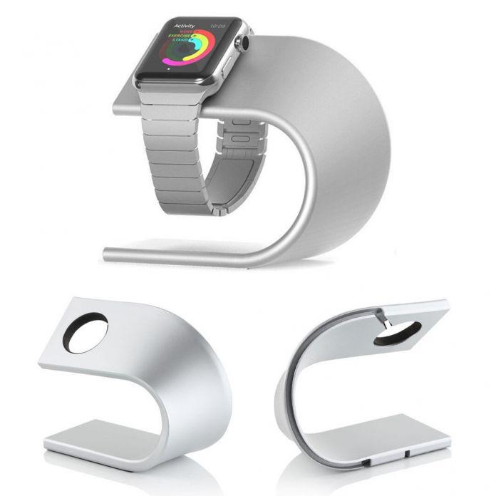 Роскошный Высокий Класс U Тип Металлический Кронштейн Дисплей Док Подставка Для Зарядки Держатель Для Apple Watch