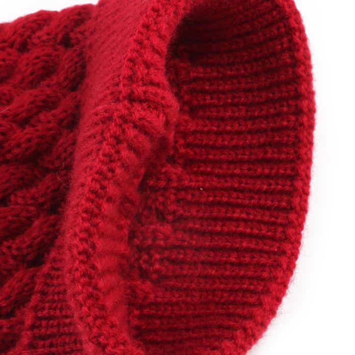 Вязаная шерстяная шапка для девочек