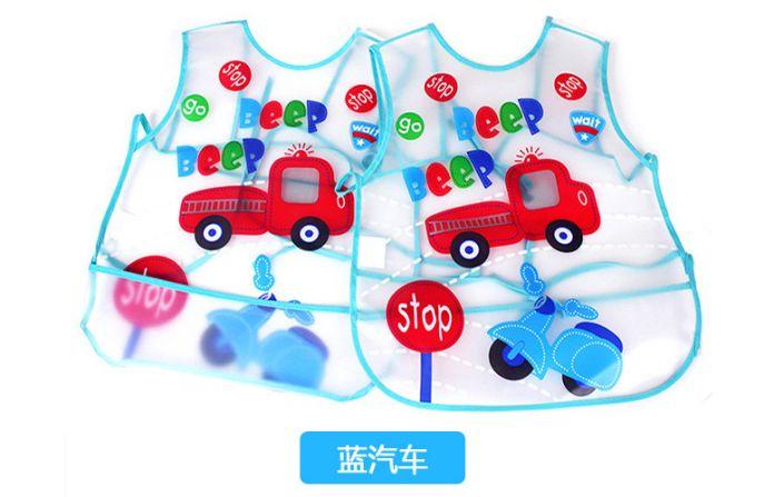 1 рис EVA прозрачный детские фартуки детское питание нагрудники водонепроницаемый садовник хлопок кормление ребенка одежда для новорожденных фартук TKSJ26