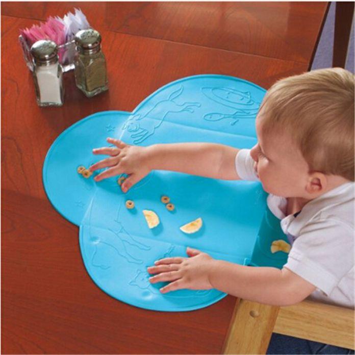 Waldos силиконовый водонепроницаемый ребенок нагрудник младенческой силиконовые Столовая портативный скатерть для детей детское питание мат