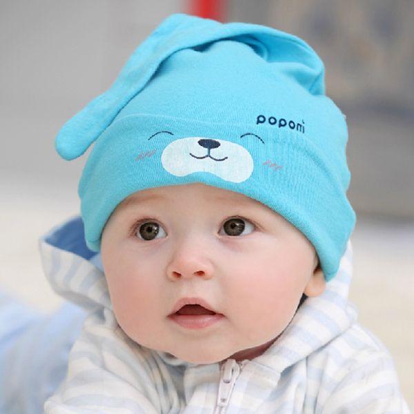 9 Цветов Мультфильм Девочка Мальчик Малыш Хлопок Сна Cap Головные Уборы Прекрасный Hat Для Новорожденного Ребенка