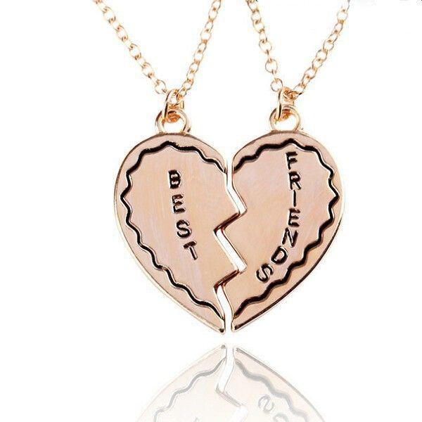 Горячее в форме сердца разбитое стиль 2-Piece и 3 части ожерелье лучшие друзья навсегда ожерелье сердца письма ожерелье подарок для девочки