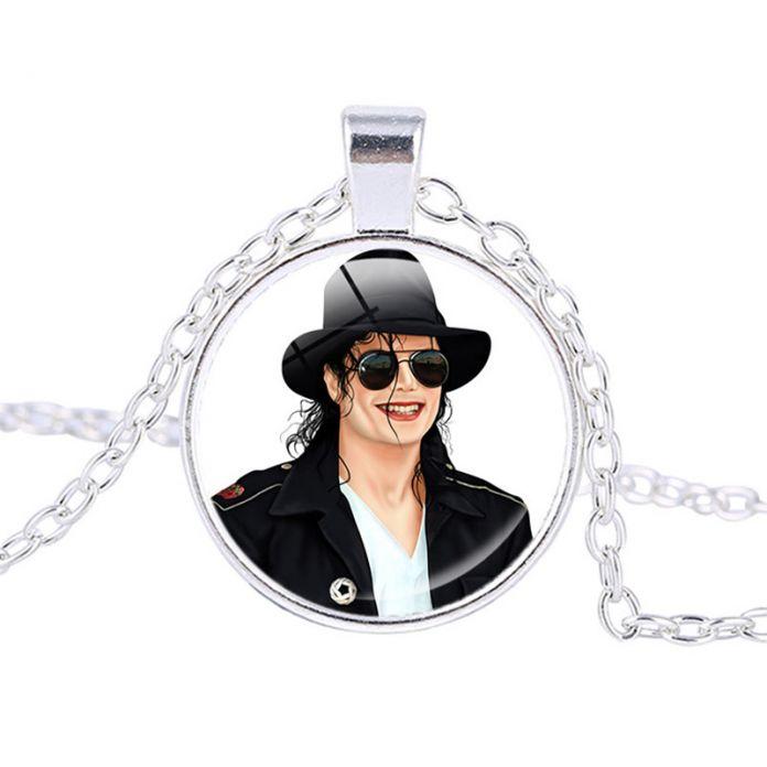 Личность Майкл Джексон Искусство Ожерелье Майкл Джексон Фото Длинные Ожерелья YP2509