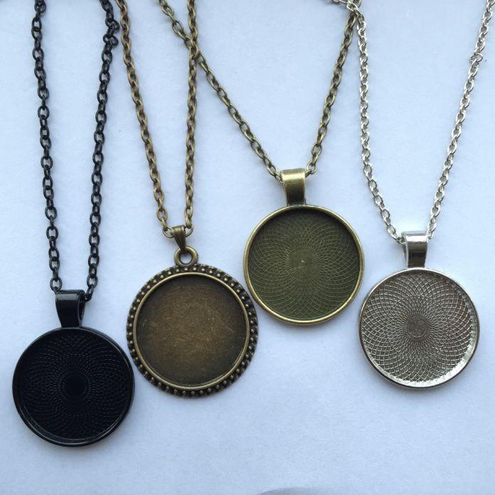 Оптовая продажа стеклянный купол кулон черная кошка викка ожерелье пентаграмма шаманство шарма ювелирных изделий