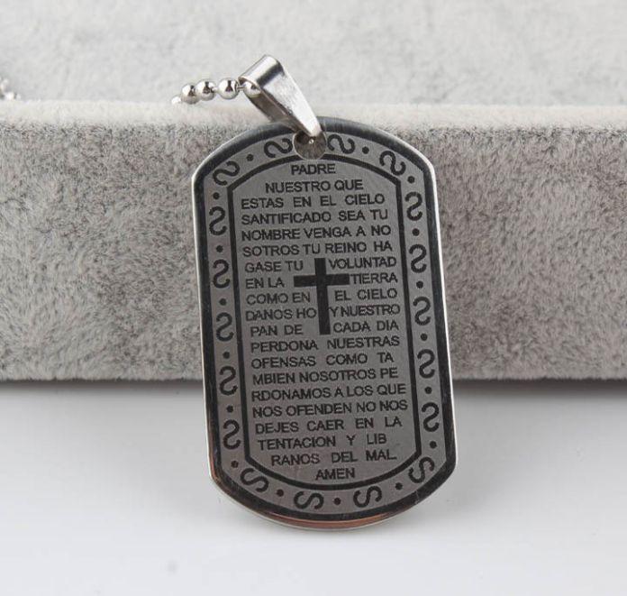 Португеза Библия Молитва Подвески и Ожерелья Бесплатно Веревка, Португалия Библия Ожерелье, Христианской Нержавеющей Стали Португальский Крест