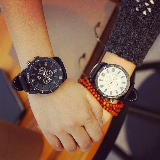 Мода JIS Марка Большой Циферблат СВЕТОДИОДНОЙ Подсветкой Резиновые Спортивные Часы Наручные Часы для Мужчин Женщины Мужская Черный Белый Красный