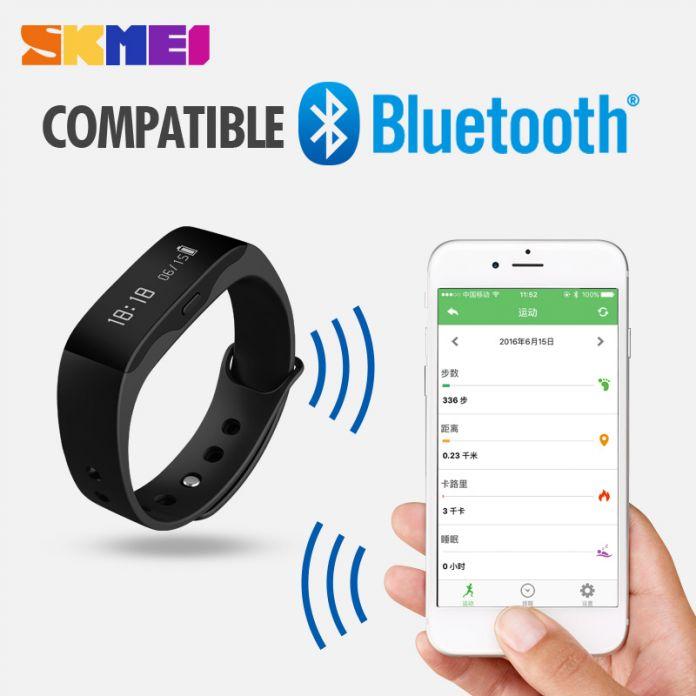Смарт Браслет L28T SKMEI СВЕТОДИОДНЫЕ часы Водонепроницаемый Фитнес Сна Трекер Сигнализация шагомер калорий Bluetooth 4.0 Android 4.3 IOS 7.0