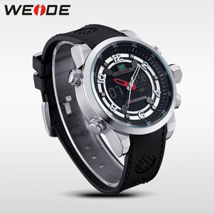 Вайде мужская кварцевые полный сталь армия дайвер часы мужчины военный спортивные часы планки PU люксовый бренд жк подсветка наручные часы