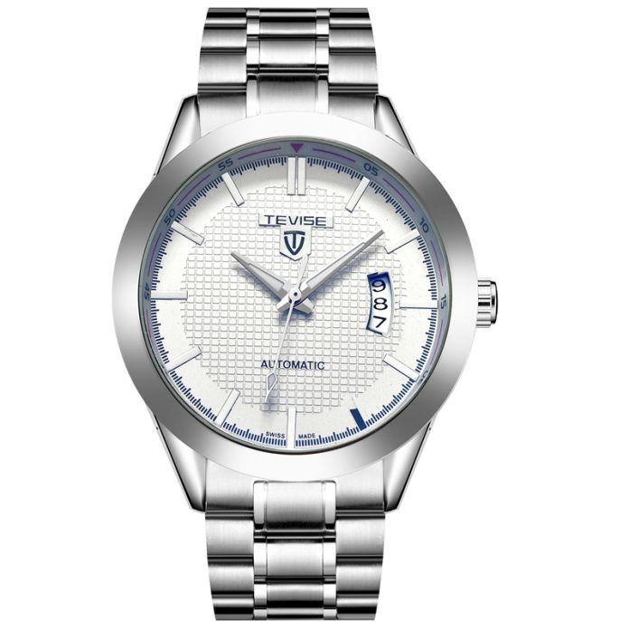 Мужские Часы Лучший Бренд Класса Люкс TEVISE Автоматические Механические Часы Водонепроницаемый Бесцветные Стекла Стали Часы Часы Relogio Masculino