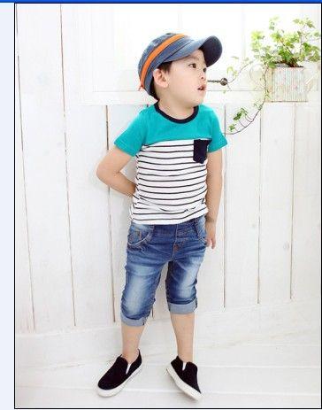 Прохладный полосы мальчиков футболки на лето детей и пиджаки ребенок футболка новое поступление