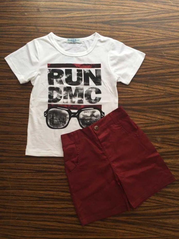 Бесплатная Доставка детский Новый 2pce Костюм Устанавливает футболки + Шорты Мальчиков Повседневная Одежда Наборы