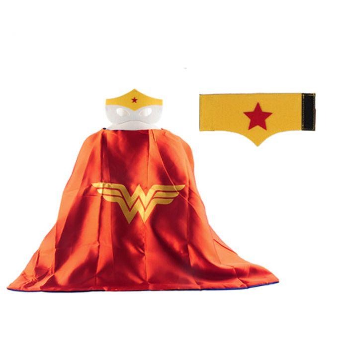 1 Мыс + 1 Маска + 1 шт. браслет паук супермен устанавливает мальчики дети супергерой накидки костюм супергероя костюмы для дети подарок на день рождения