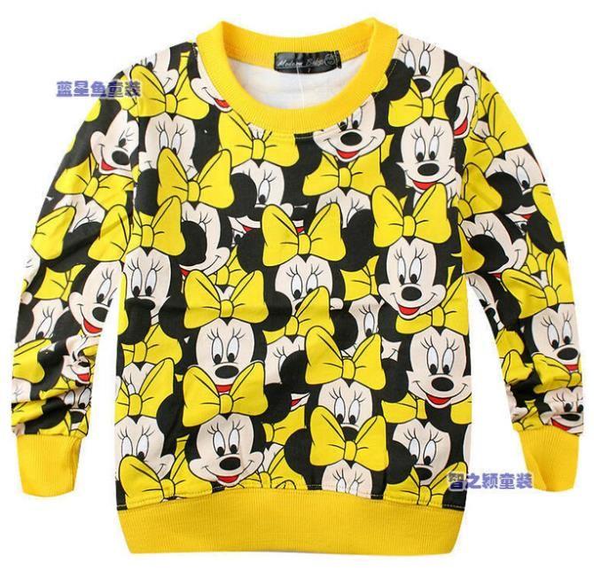 2016 весной новое поступление новорожденных девочек мальчиков одежда терри свитер мультфильм с длинным рукавом футболка кофта детские дети толстовки
