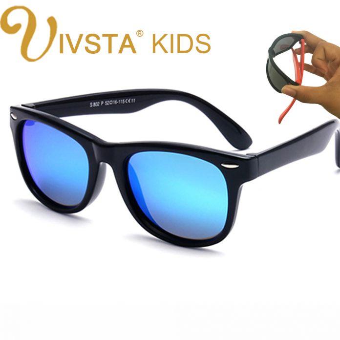 IVSTA Поляризованные Детские Солнцезащитные Очки Мальчиков Очки Дети Солнцезащитные Девочки Пальто Зеркала, TR90 Силиконовые Детские Очки Оптовая Polaroid