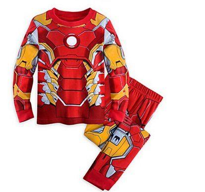 Новый Детская Одежда марвел Мстители Дети Пижамы Pijamas детский Мультфильм Бэтмен Пижамы Мальчиков Печатных Sleepwears Одежда наборы