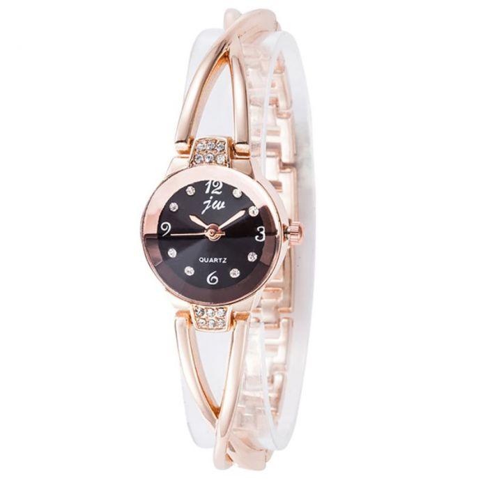 Женщин Леди Браслет Наручные Часы Класса Люкс Горный Хрусталь Кварцевые Аналоговые Часы Элегантные 8 Цвета