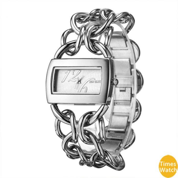 PINTIME Марка Роскошные Женщины Золотые Часы Дамы Качество Кварца Япония Movt Наручные Часы Браслет Relogio Feminino Relojes Mujer