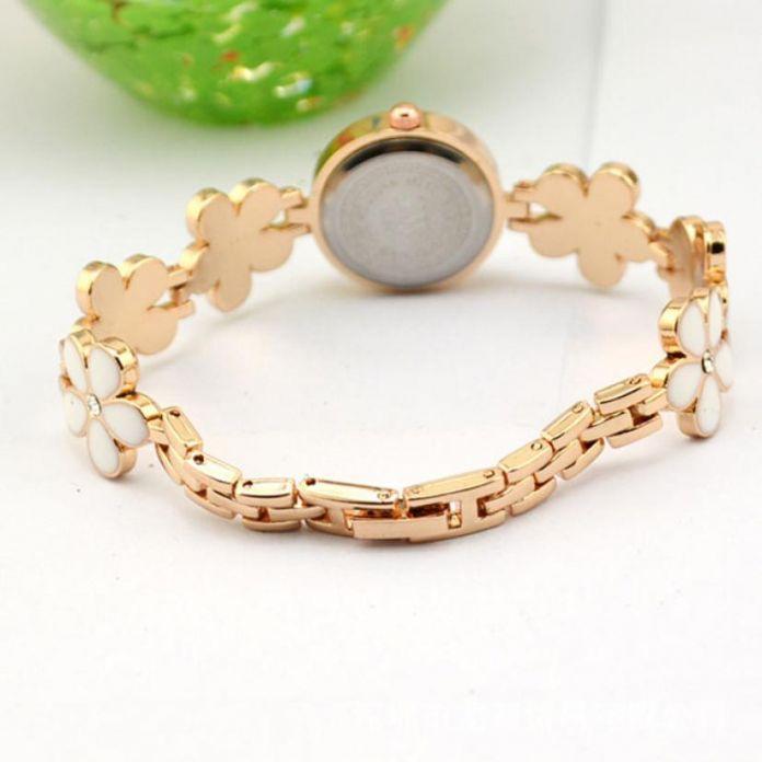 Мода Ромашки Цветок Розового Золота Браслет Наручные Часы Девушки Женщин Подарок Дамы Наручные Часы Красный Женщины Роскошные Кварцевые Часы