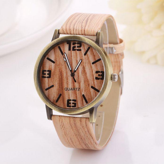 Лучший продавец высокое качество reloj hombre Старинные Деревянные Часы Моды для Женщин Кварцевые Часы Наручные Часы Подарочные эркек коль saati Sep26