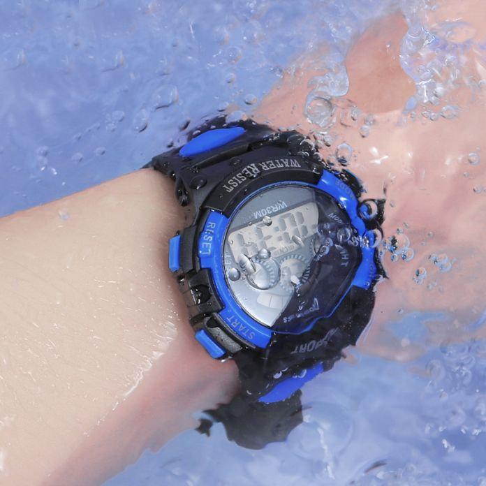 Orrison Детей Часы 30 М, водонепроницаемый LED цифровые часы, сигнализация Ударопрочные Подсветка Мальчики Спортивные Часы Дети Подарочные Часы