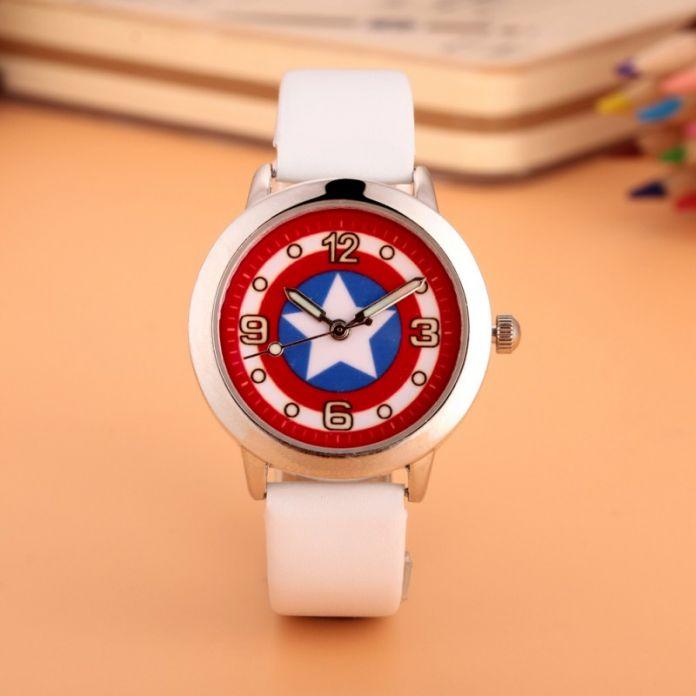 Капитан Америка Мстители Гражданской Войны Часы Мода Часы Кварцевые дети Желе Дети Часы мальчики девочки Студенты Наручные Часы