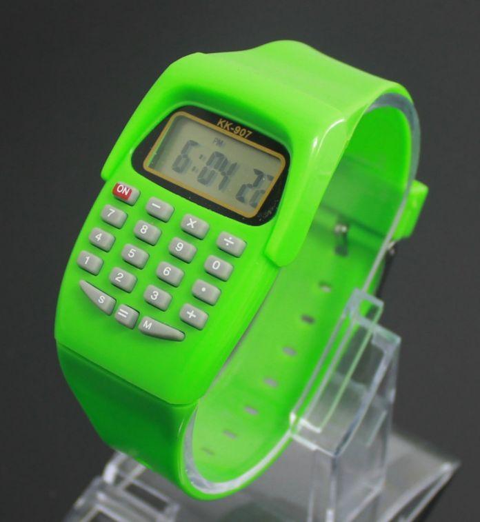 Мода Цифровой LED Watch 2016 Повседневная Силиконовые Спортивные часы Для Детей Дети Многофункциональный Калькулятор наручные часы Relogio Часы