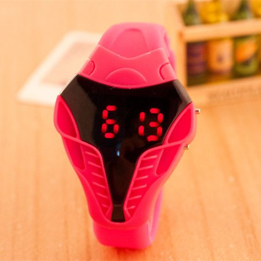 Мужская Мода кобра электронные цифровые часы спорт силикона студня женщины одеваются наручные часы Дети Часы Relogio Masculino