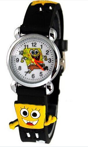 Горячее Надувательство! классический Губка Боб 3D Малышей детей Мультфильм Смотреть Рождественский Подарок часы,