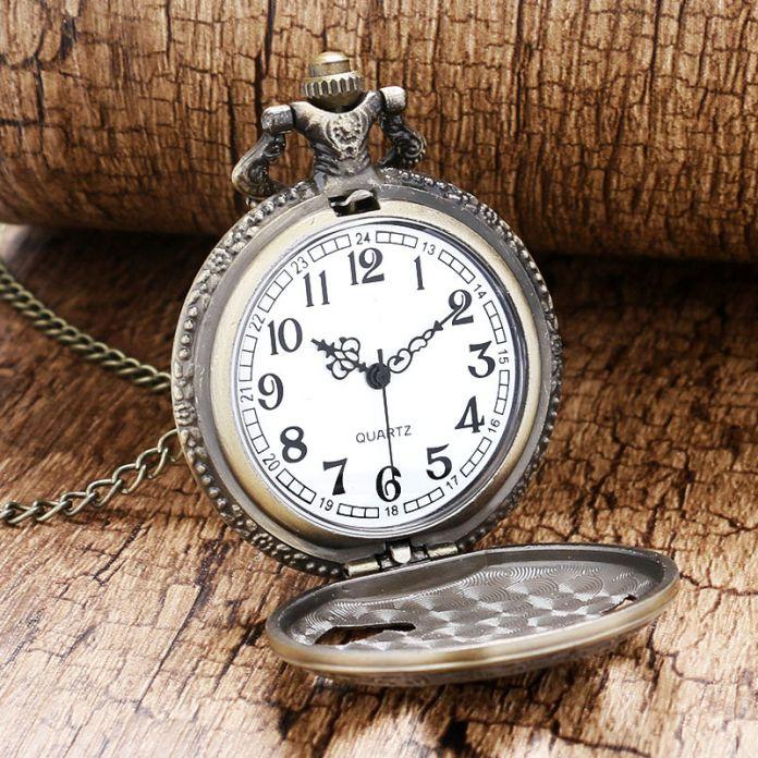 2016 новый бронзовый полые орел кварцевые карманные часы ожерелье для мужчин леди Women' подарок